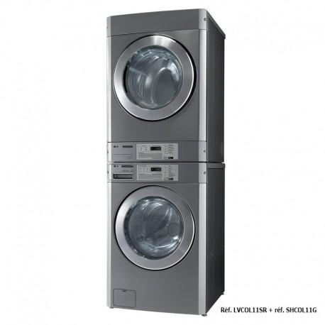 LG - Sèche-linge professionnel - 11 kg pour installation en colonne - SHCOL11G