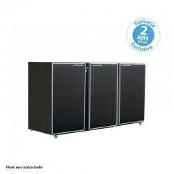 Unifrigor - Arrière-bar - Sans groupe - 3 petites portes pleines - 390 litres