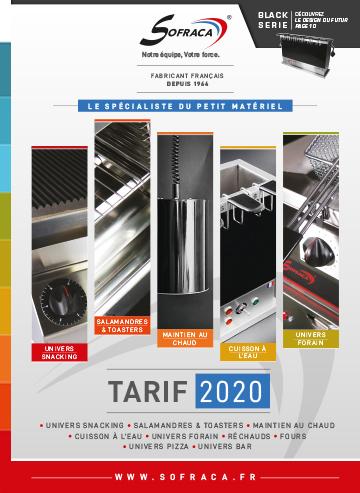 Couv catalogue SOFRACA 2020
